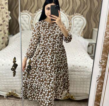 Удобные платья на повседневку. Ткань: тонкий бамбук. Размеры s,m,l,xl