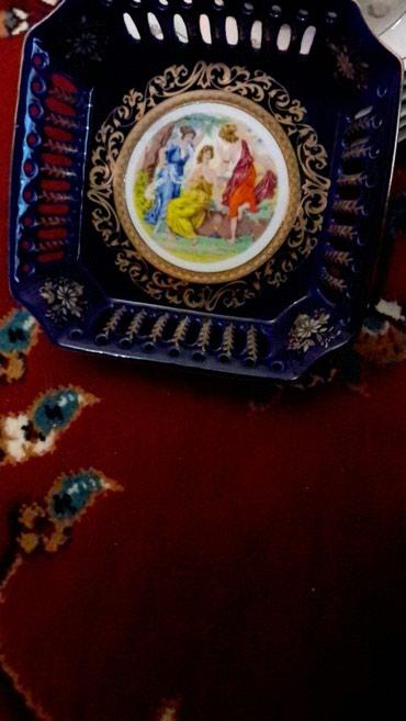 Bakı şəhərində Konfetqabı qara madonna,qədimi,kobalt