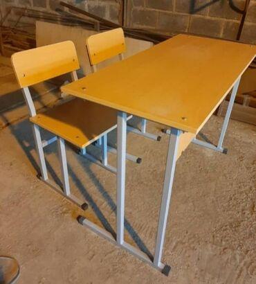 Мебель на заказ - Кыргызстан: Изготавливаем школьные комплекты: парта и два школьных стула. Размеры