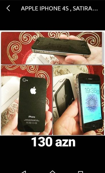 Bakı şəhərində Iphone 4s, 16 gb yaddas