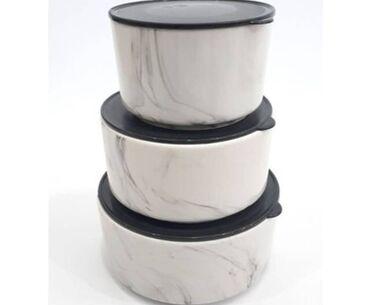 tava destleri - Azərbaycan: Yunus firmasının 3lü keramika saxlama dəsti ✅ Qiymət-15Azn