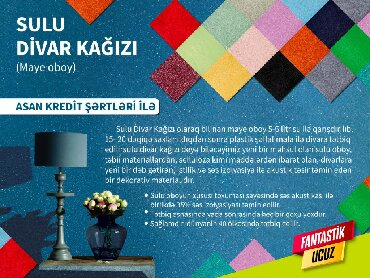 mebel divarı - Azərbaycan: Sulu oboylar, divar kağızları ve diger tikinti meterialları, tikinti