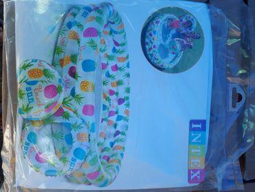 Надувные-бассейны-для-детей - Кыргызстан: Надувные бассейны комплект балон+мяч  Размер: 1.32m ×28cm