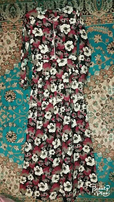 платье в пол осень в Кыргызстан: Новое Платье в пол весна~осень размер 48(подарили.размер не