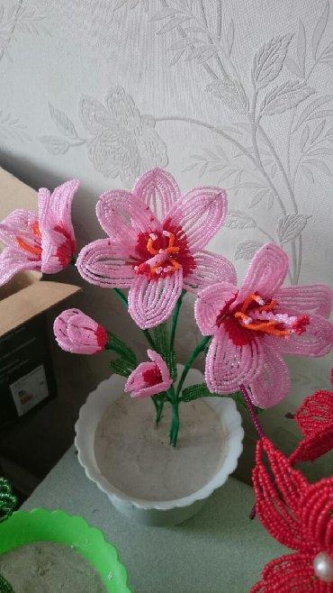 цветы живопись в Кыргызстан: ПРОДАЮ!!! Прекрасный подарок цветы из бисера и из нитки на 8марта!!!