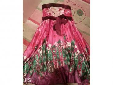 Top haljina svilena,leprsava novo! Za s-m