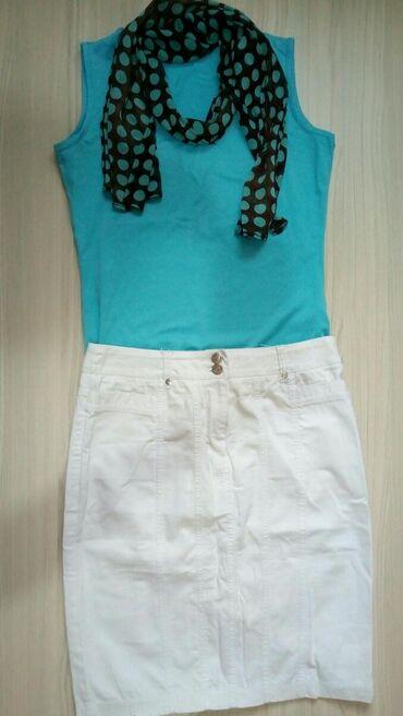 с-юбкой в Кыргызстан: Да, актуально!продам вместе юбка белая джинсовая хорошо будет 46р. на