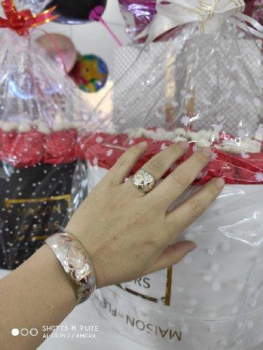 золото бишкек in Кыргызстан | ДРУГИЕ АКСЕССУАРЫ: Билерик с кольцом.Серебро под золото 925пообы.Производитель