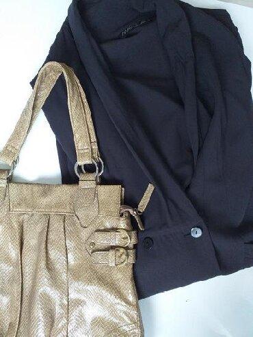 Original dizajnerski sako haljina Marc Cain, crno braon boje,velicina