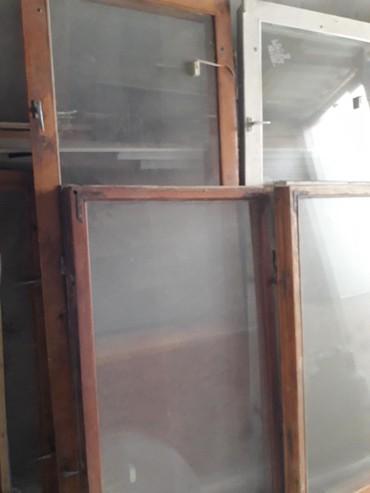 Окна деревянные - Кыргызстан: Продаю деревянные и пластиковые двери, окна б/у