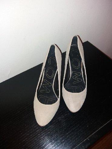 Ženska obuća | Bor: RASPRODAJA. elegantna cipela krem boje sa nizom potpeticom od