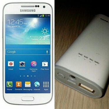 Bakı şəhərində Gencede. Samsung S4+Power bank. İkisi bir yerde. Telefon super
