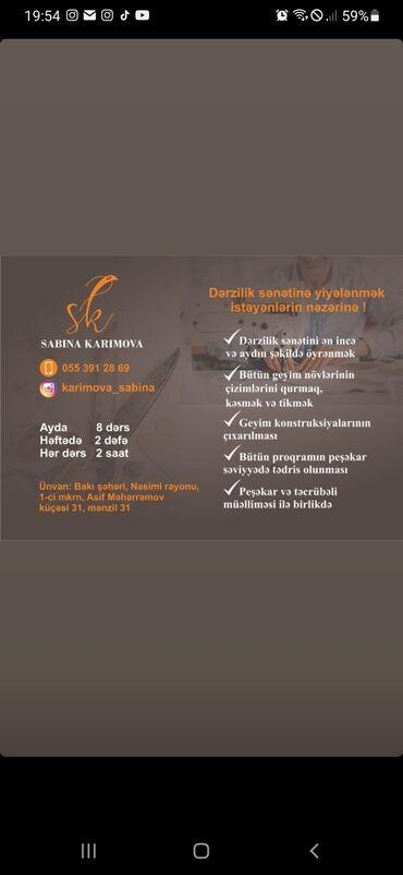 Paltar tikişi - Azərbaycan: Derzi kursu