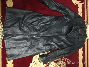 сюртук весенний в Кыргызстан: Продаю кожаный сюртук 46 размер в хорошем состоянии