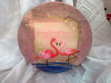 Декоративная тарелка на подставке. в Bakı