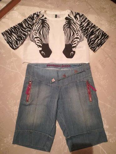 Женские шорты в Кыргызстан: Джинсовые шорты 400 кофточка 100, размер шорты 30 турецкий, кофточка