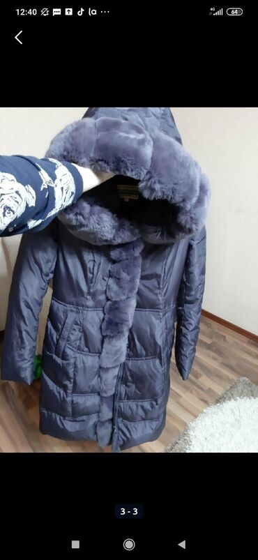 Продаю куртку, размер S-M, мех натуральныйпокупала на дордое за