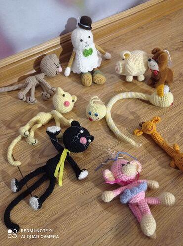 Игрушки Амигуруми. Котята, приведение, поросенок жераф, змея