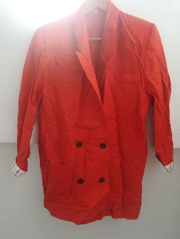 Ženska odeća | Vranje: Zanimljiv narandžasti sako vel 44 samo 200 din. Obim grudi kod sakoa