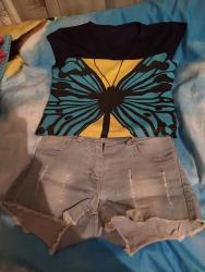 мужские шорты в Кыргызстан: Детский комплект модный топ и шорты 6-8 лет