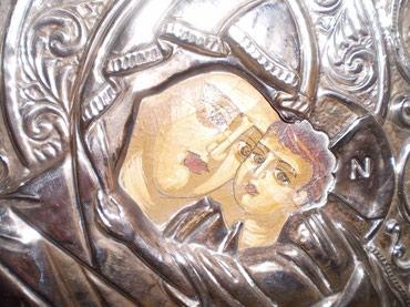 Εικόνα της Βρεφοκρατούσας Θεοτόκου, 25Χ20, παλιό έργο, κορνιζαρισμένη