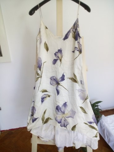 Mariella Burani svilena letnja haljina, cvetna, na tanke bretele, - Belgrade