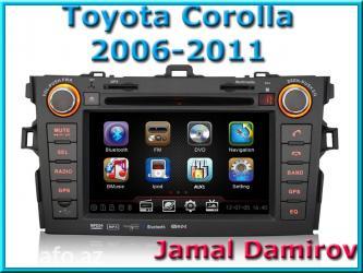 Bakı şəhərində Toyota corolla 2006-2011 üçün dvd-monitor. Dvd-монитор для toyota
