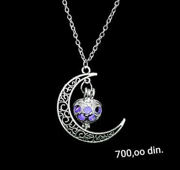 Ogrlica koja svetli u mraku,silver sterling