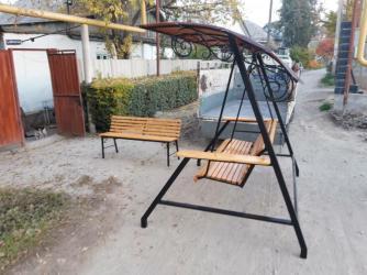 dverki dlja kuhonnoj mebeli в Кыргызстан: Большие качели с крышей! Удобные, деревянные, широкие, с комфортно