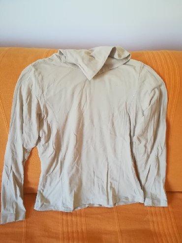 Ostala dečija odeća   Vranje: Pamučna prijatna meka rolka sa nitima vel 14, bež boja, obim grudi 84