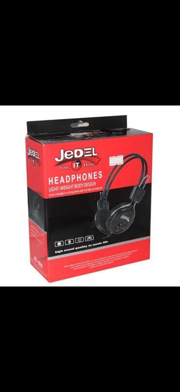 провод для наушников в Азербайджан: Jedel HeadPhones Kopiyuter ucun nauwnik (Orjinal)