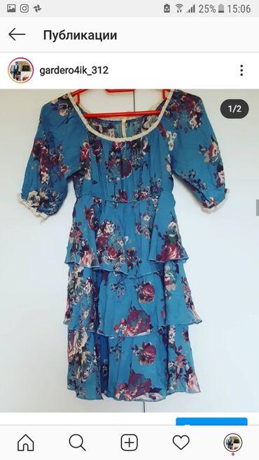 Женская одежда в Корумду: Хб платье  Размер стандарт  Талия на резинке тянется Цена 500сом