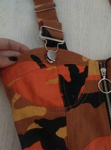 George-top-majica-uk-eur - Srbija: Crop top, vojnicki print. Veličina uk 8