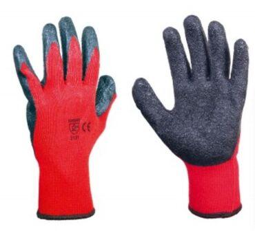 Parka rukavi - Srbija: Pletene bešavne najlonske rukavice sa slojem veoma fleksibilne gume na