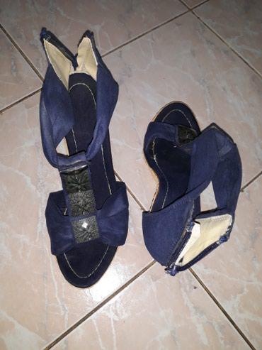 Teget sandale,ocuvane,rajfeslusi su u funkciji,vel.39,platforma 4,5 - Smederevo