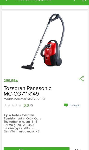 Tozsoran PanasonicTam zəmanətləNəğd və 1 kartla ödənişEvdən birbaşa