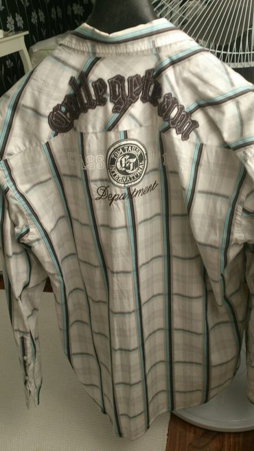 Рубашка мужская Tom Tailor размер Германия 1-2 одевали как новая