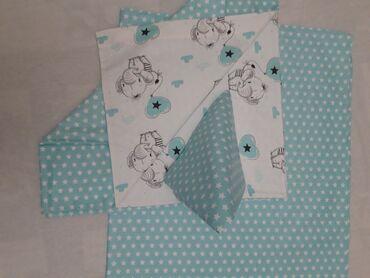 Постельное бельё для новорожденных. Пододеяльник 100×100. Простынь 10