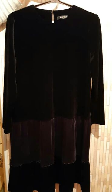 Черное бархатное платье. Одевала 1 раз. Качество люкс