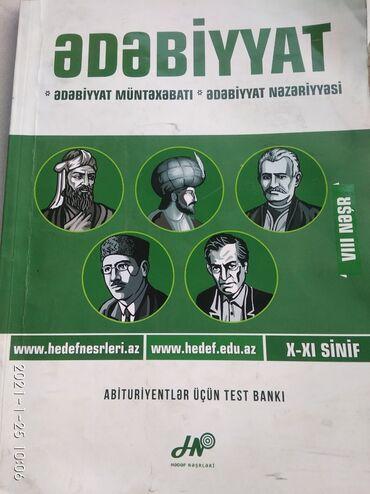 Спорт и хобби - Говсаны: Ədəbiyyat - üzrə test bankı . Hədəf nəşri . 8 çi buraxılış