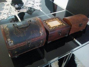 Olu duga haljina x stoji - Srbija: Stare kutije za odlaganje sitnih stvari 1) 15duz x 20sir x 16vis (vrh