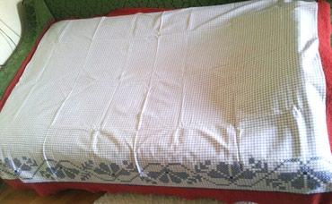 Stari čaršav ručno tkanje-plavi   Stari plavi čaršav za krevet, - Beograd