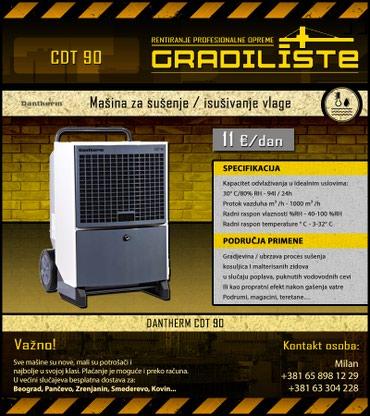 Masina za susenje / isusivanje vlage 94l/24h Dantherm CDT 90 - Vrsac