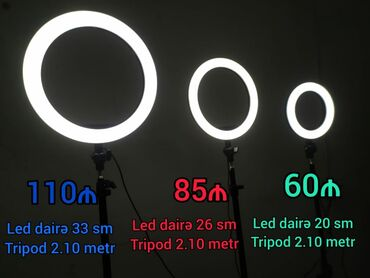 Proyektorlar - Azərbaycan: Led lampa + tripod işıqlandırma sistemiFotoçəkilişlər üçün