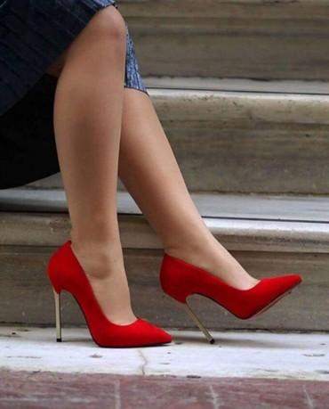 Ženska obuća   Trstenik: Cipele  br 36  crvene i crne
