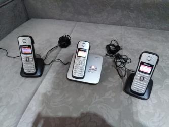 Siemens-sk65 - Srbija: Siemens Bezicni fiksni telefon sa 3 slusalice.Poseduje color Tft