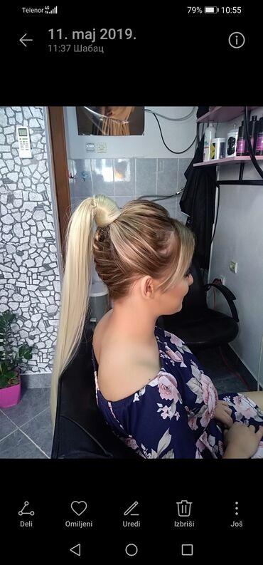 Lepota i zdravlje - Sabac: Rep, nadogradnja. Poluprirodna kosa, može da se uvija. Dužina 70cm