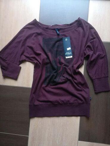 Original S`Oliver denim zenska bluza sa aplikacijom na prednjoj