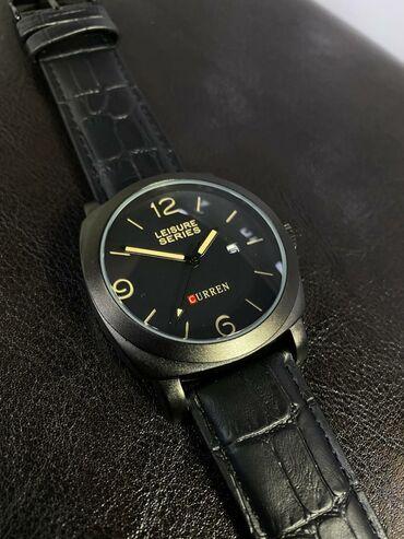 Часы фирмы CurrenСтрелки и деление времени с фосфорными вставками