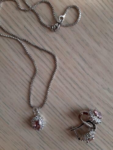Печатка серебряная - Кыргызстан: Сережки с цепочкой серебряные 925 пробы + В КАЧЕСТВЕТПОДАРКА 2 ПОДВЕСК
